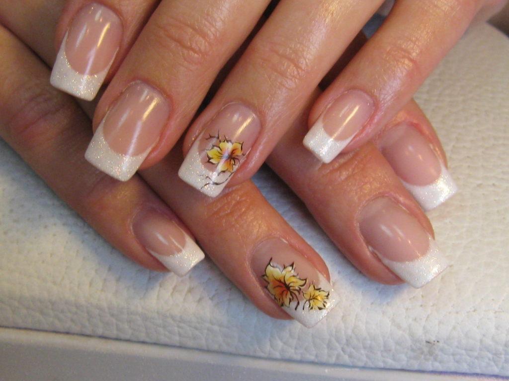 Дизайн ногтей френч тема осень